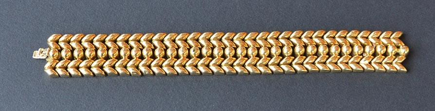 Astonishing  Italian large 18kt solid yellow gold bracelet