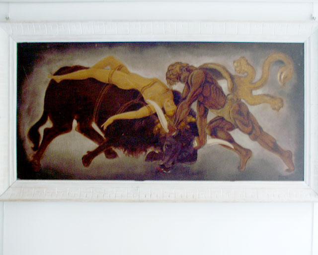 Grande dipinto olio su tavola