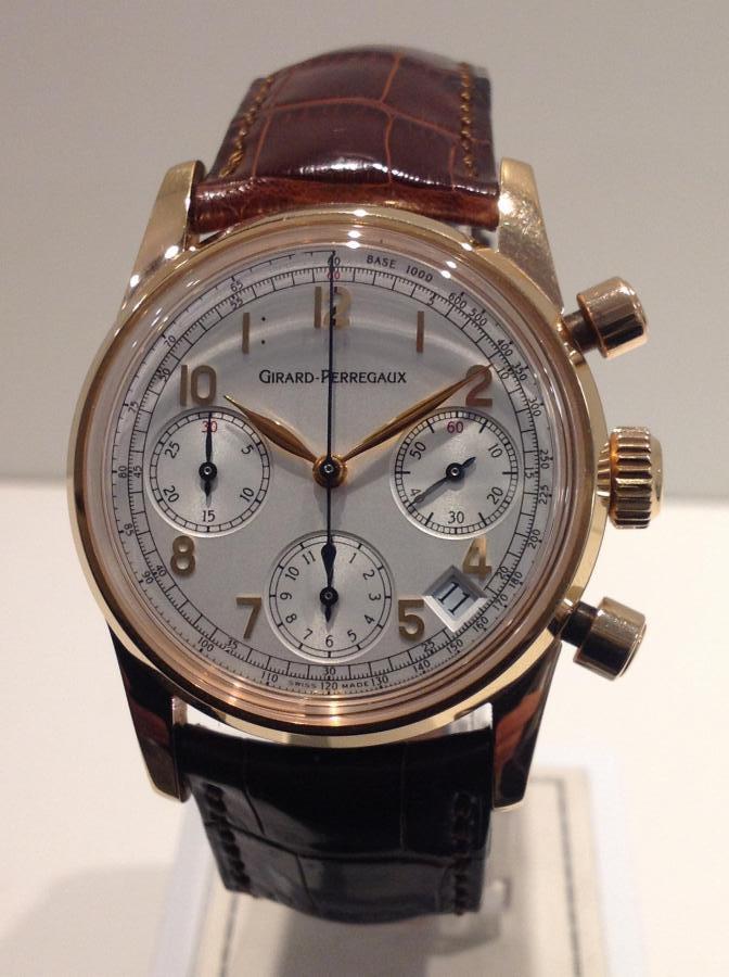 Girard Perregaux Vintage Cronografo rose gold 18 Kt ref. 4930 full set