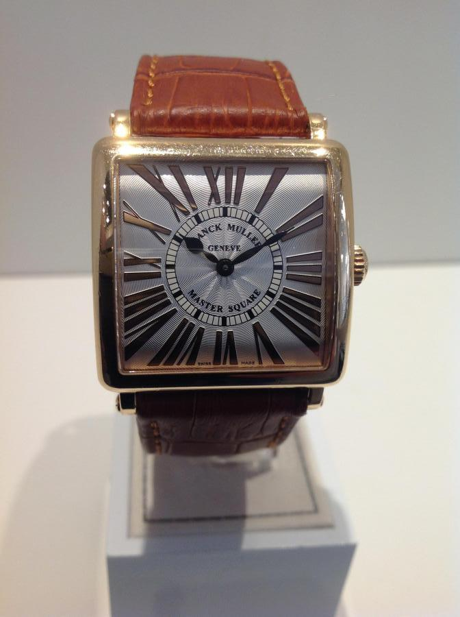 Franck Muller Master Square rose gold in original box Ref 6002