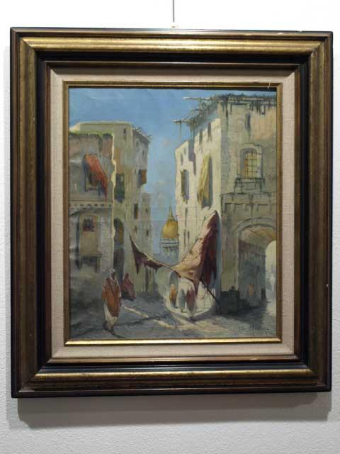 SUPERB QUALITY ORIENTALIST OIL ON CANVAS BY JULES PASCHAL